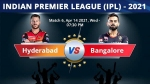 IPL Highlights: আজ চেন্নাইয়ে রয়্যাল চ্যালেঞ্জার্স ব্যাঙ্গালোর বনাম সানরাইজার্স হায়দরাবাদ