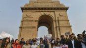 সিএএ-র বিরুদ্ধে প্রতিবাদ,  সংবিধান রক্ষার জন্য ইন্ডিয়া গেটে গণ অঙ্গীকার