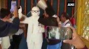 আম্বেদকরের মূর্তিতে বিজেপি নেতা গিরিরাজের মাল্যদান, গঙ্গা জল ছেঁটাল সিপিআই, আরজেডি