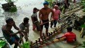 বিদ্যাধরী বাঁধ ভেঙে বিপত্তি! প্লাবিত বহু গ্রাম, আতঙ্কিত গ্রামবাসীরা