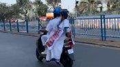 পেট্রোল ও ডিজেলের দাম বৃদ্ধির প্রতিবাদ,  ই-স্কুটারে নবান্নের পথে মমতা