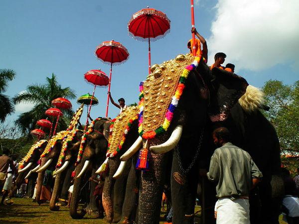 Touristst Started Pourig Keral Onam Festival