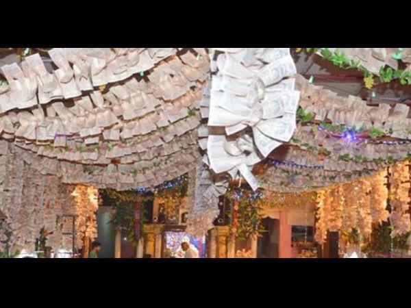দুর্গার সোনার শাড়ি দেখেছেন! এবার দেখুন ১০০ কোটি টাকার নোট দিয়ে সাজানো এই লক্ষ্মীমন্দির