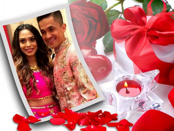 Indian Football Team Captain Got Engaged His Long Time Girl Friend Sonam