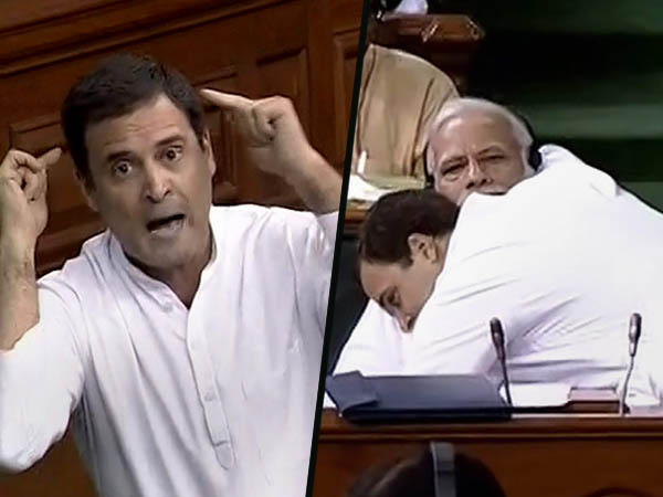 When Rahul Hugged Modi Parliament The Internet Broke The Meemes Are Here