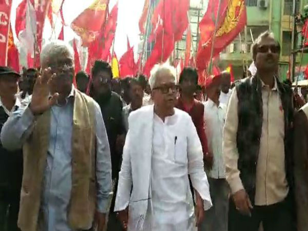 Left Parties Birbhum Organises Maharally From Tarapith Rampurhat
