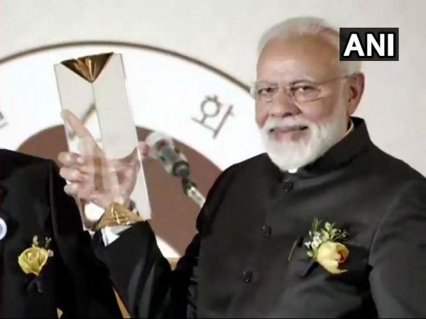 নরেন্দ্র মোদী পেলেন সিওল শান্তি পুরস্কার, ডাক দিলেন সন্ত্রাসবাদের বিরুদ্ধে একযোগে লড়াইয়ের