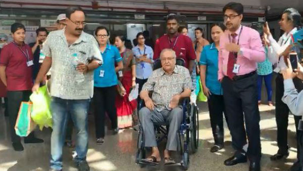 Soumitra Chatterjee Returns To Home From Kolkata Hospital