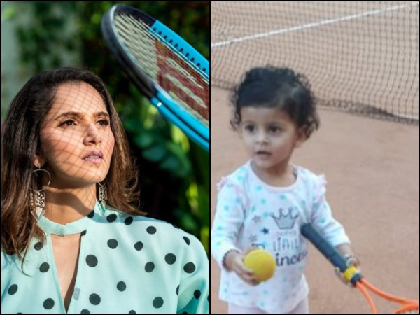Sania Mirza Bless Little Kid Playing Lawn Tennis