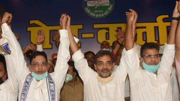 বিহারে চড়ছে রাজনৈতিক উত্তাপ, বিজেপি যোগের জল্পনা উড়িয়ে কুশওয়া জোট বাঁধলেন বিএসপির সঙ্গে