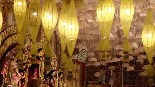 করোনা পরিস্থিতিতে 'নিয়ম-রক্ষার পুজো', স্পষ্টত বার্তা মুদিয়ালি, শিবমন্দিরের