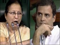Speaker Sumitra Mahajan Does Not Support Rahul Gandhi S Courtesy Politics