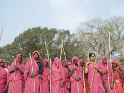 Gulabi Gang Chief Raises Danda Against Gulaab Gang