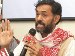 Ink Thrown On Aam Aadmi Party Leader Yogendra Yadavs Face