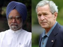 George Bush Paints Portrait Of Manmohan Singh Wants To Gift Him
