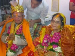Year Old Congress Veteran Nd Tiwari Marries Ujjwala Sharma