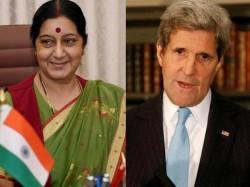 John Kerry Congratulates Sushma Swaraj Discusses Indo Us Ties