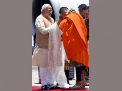 On His First Foreign Visit Pm Narendra Modi Arrives In Bhutan