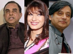Sunanda Pushkar Death Professionals Killed Shashi Tharoor Wife Subramanian Swamy