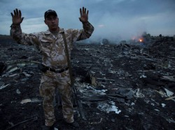 Jetliner Explodes Over Ukraine Struck By A Missile Officials Say