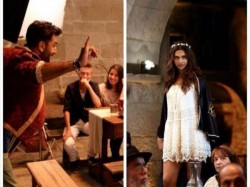 Ranbir Kapoor Deepika Padukone Fun Dance On Tamasha Sets