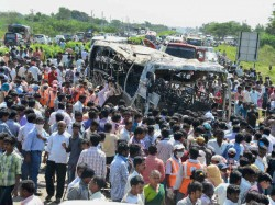 Bus Carrying Pilgrims From Bengal Caught Fire In Tn Five Persons Charred To Death