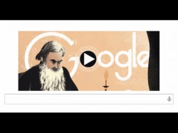 Google Makes Doodle On Leo Tolstoys Birthday