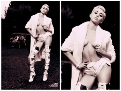 Miley Cyrus Strips For V Magazine The Rebel Issue