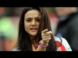 Preity Zinta Creates Bang Bang Throwing Man Out Of Theatre