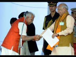 Manohar Lal Khattar Sworn In As Cm Of Haryana