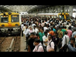 Local Train Service Disrupted In Mumbai Police Lathicharged Commuters