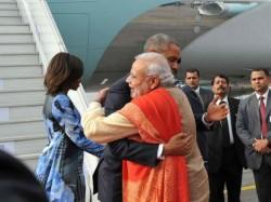 Met With A Hug Pm Modi Breaks Protocol For Obama