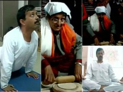 A Day Before Delhi Election Kiran Bedi Arvind Kejriwal Turn To God And Yoga