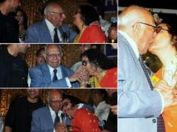 Ram Jethmalani Kisses Smooches Kishore Kumar Wife Actress Leena Chandavarkar