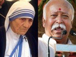 Rss Chief Bhagwat Claims Mother Teresa Helped Poor Wanted Convert Christianity
