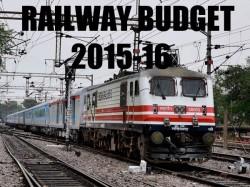 Railway Budget 2015 Live Updates