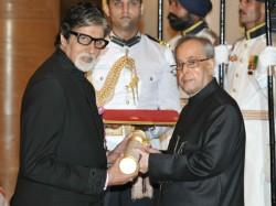 Amitabh Bachchan Dilip Kumar Conferred With Padma Vibhushan