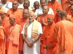 Pm Modi Visits Dakshineswar Belur Math