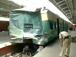 Train Rams Into Buffer In Sealdah Station