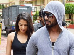 Latest Pictures Shahid Kapoor Mira Rajput Spotted Outside Bandra Gym