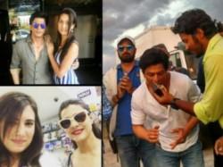 Dilwale Actors Shahrukh Khan And Kajol Having Fun In Bulgaria