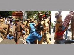 Puducherry Students Continue Protest For Vc S Ouster