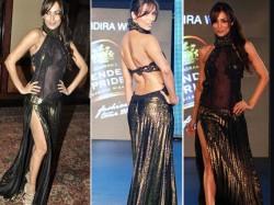 Malaika Arora Khan Birthday Hot Pics Plunging Neckline Thigh High Slit Gowns