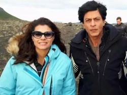 Shahrukh Khan Kajol Adorable Pictures From Dilwale Sets