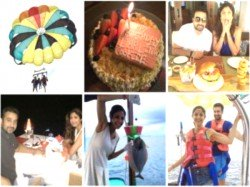 Shilpa Shetty Raj Kundra Holiday Pictures In Maldives Celebrating His Birthday