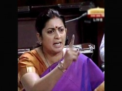 Smriti Irani Quotes Durga Poster Congress Forces Apology Or Adjournmet