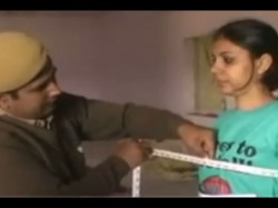 Video Male Cops Conduct Physical Examination Women Candidates Rajastha