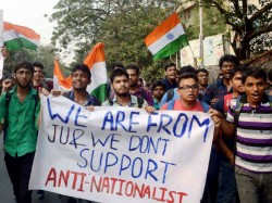 Jadavpur University Left Students And Abvp Protest Against Each Other