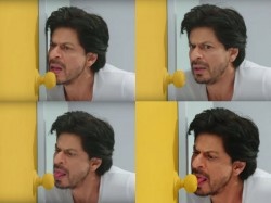 Shahrukh Khan Gone Wild Licks Things In Front Of Him