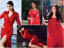 Fiery Hot Pics Aishwarya Rai Bachchan Red Attires Rocked Your World